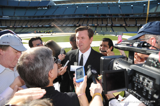 KINGS-DUCKS PRESS CONFERENCE AT DODGER STADIUM