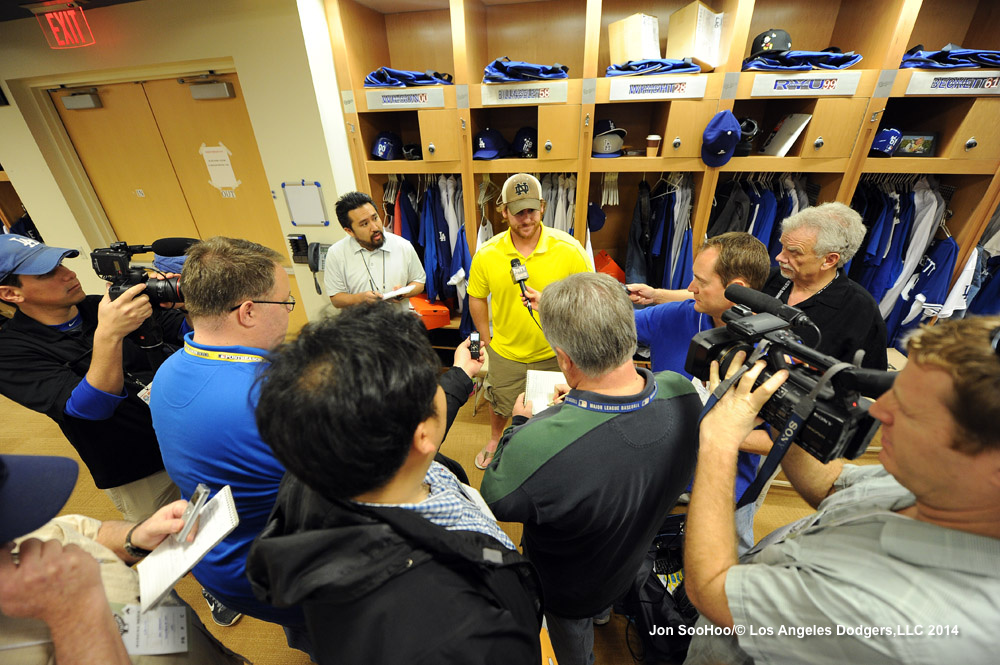 Chad Billingsley meets reporters today. More from Jon SooHoo here.