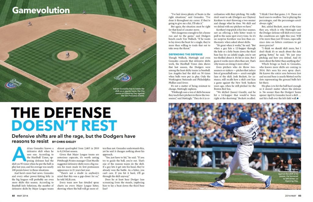 Defensive shifts from May 2014 magazine