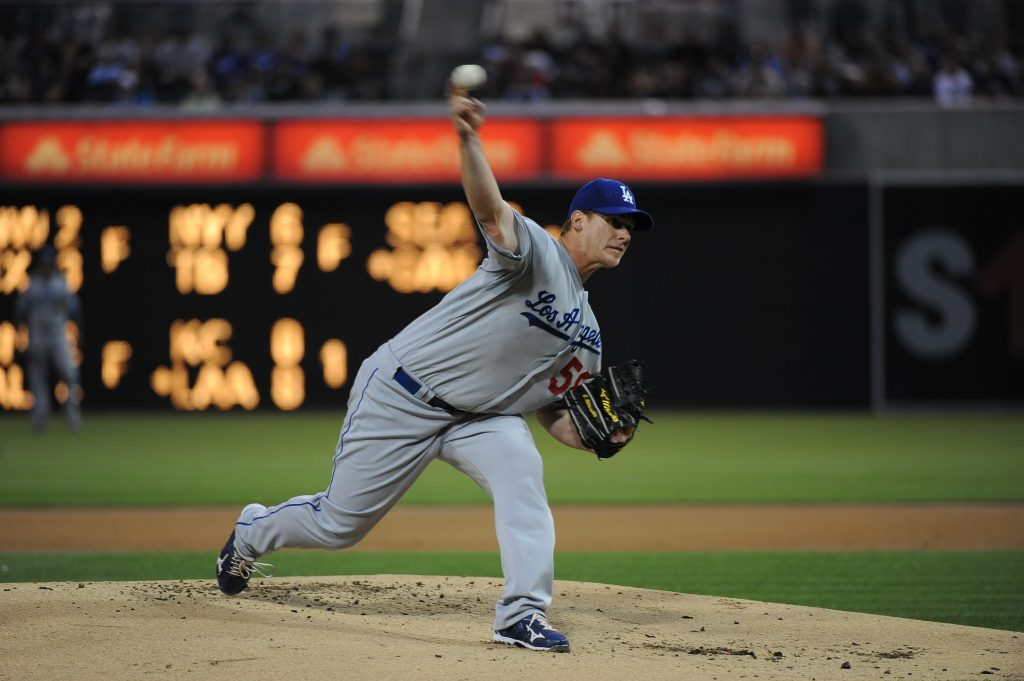 In his first start of the 2012 season, Chad Billingsley allowed four baserunners in 8 1/3 shutout innings while striking out 11. (Jon SooHoo/Los Angeles Dodgers)
