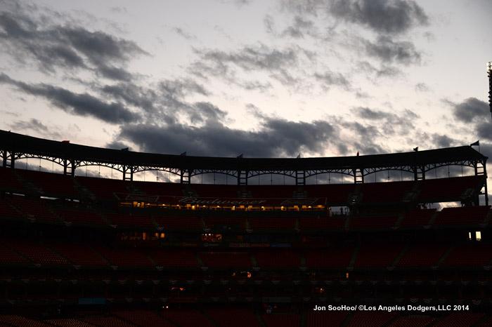NLDS-Los Angeles Dodgers workout at Busch Stadium