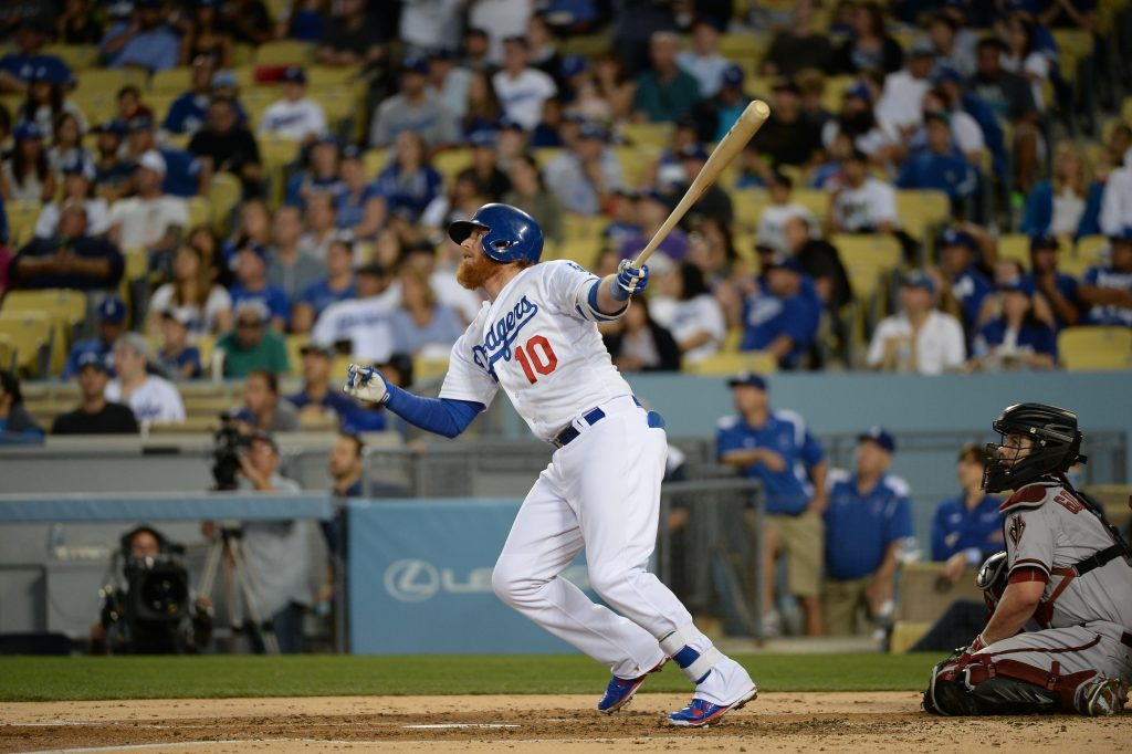 Justin Turner has a .918 OPS in 383 plate appearances as a Dodger. (Jon SooHoo/Los Angeles Dodgers)