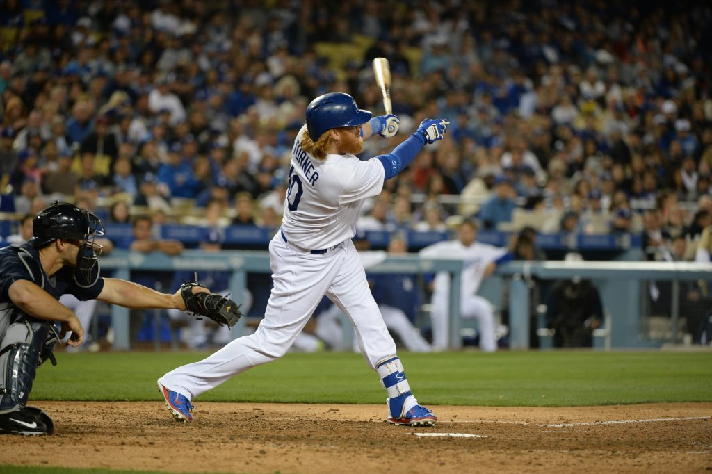 Justin Turner is slugging .538 in 233 at-bats against right-handed pitchers. (Jill Weisleder/Los Angeles Dodgers)