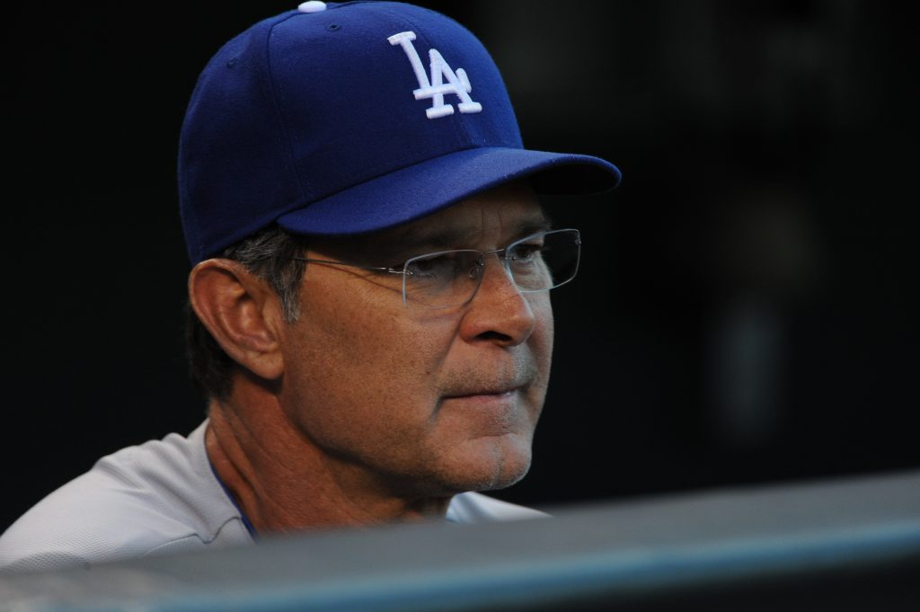 Don Mattingly went 446-363 as Dodger manager. (Jon SooHoo/Los Angeles Dodgers)