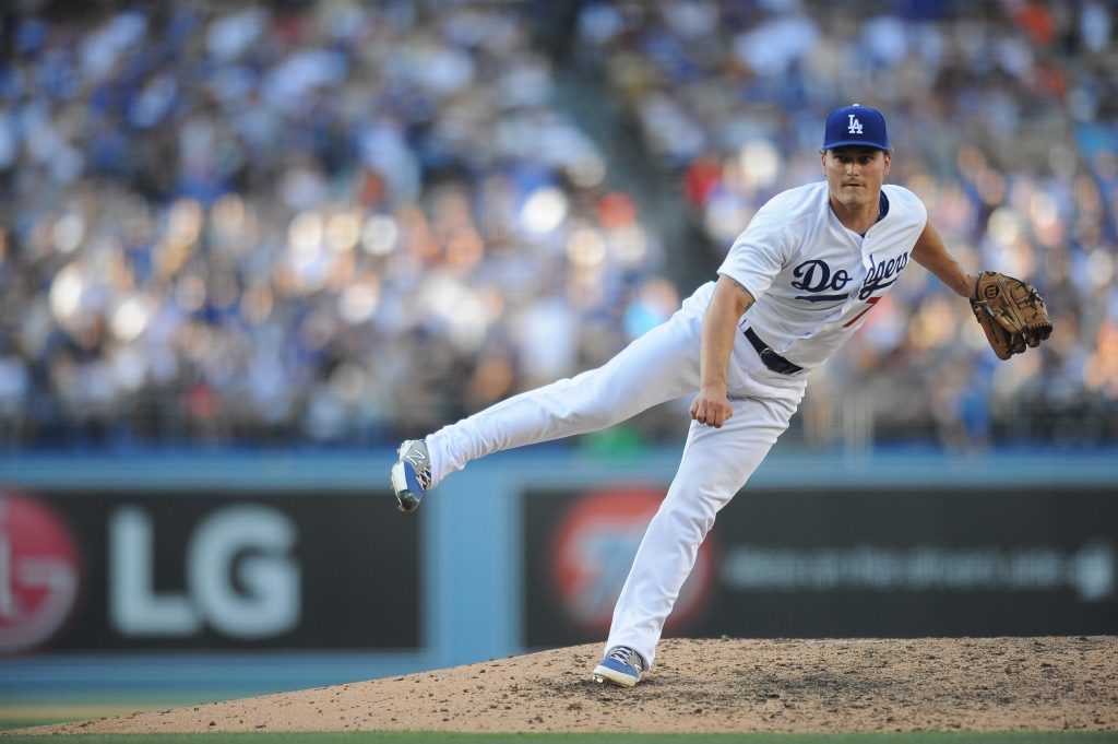 Matt West made his Dodger debut June 20. (Juan Ocampo/Los Angeles Dodgers)