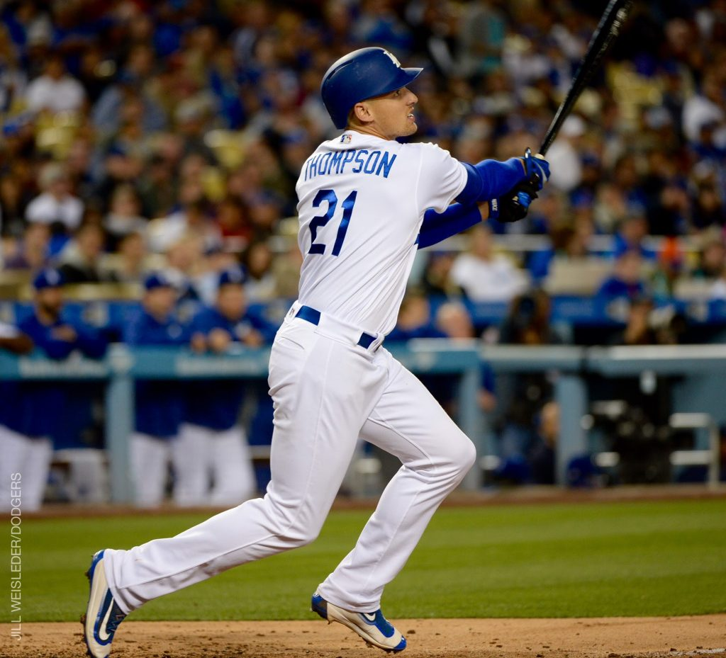 Trayce Thompson also homered for the Dodger against the Mets on Monday.