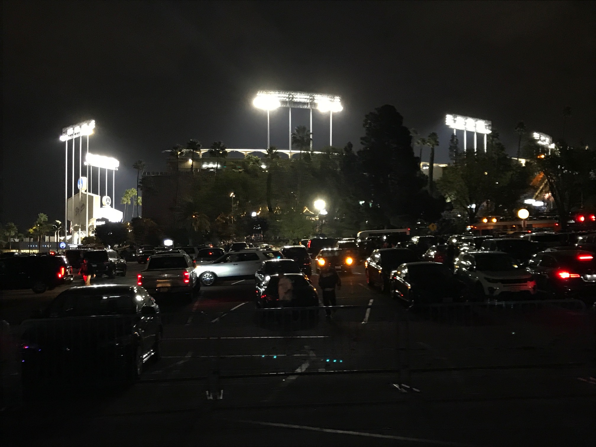 Dodger Stadium, minutes after the end of Game 7 of the 2017 World Series